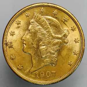 1907 USA Double Eagle $20