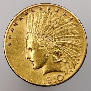 1910 S USA Indian Head $10