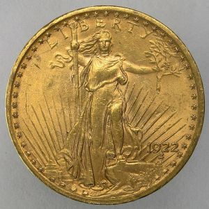 1922 USA Saint Gaudens $20