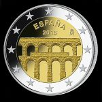 2016 - Aqueduct of Segovia - 2 euros - Spain
