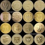 COMPLETE 16 COINS - PROVINCES OF POLAND