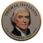 2007 $1 THOMAS JEFFERSON KOLOR