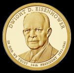 2015 $1 DWIGHT D. EISENHOWER - D