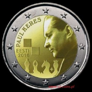 2016 - Estonia - Paul Keres 2 euro