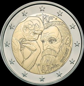 2017 France - 100th anniversary of Auguste Rodin's death 2 euros