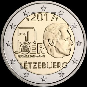 2017 Luxembourg - 50 years of army 2 euros