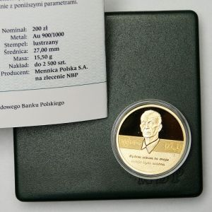 2014 III RP 100th birthday of Jan Karski 200 PLN